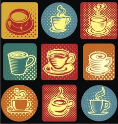 Classic coffee cup icon vector