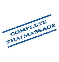 Complete thai massage watermark stamp vector