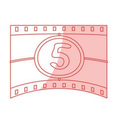 Countdown film design vector
