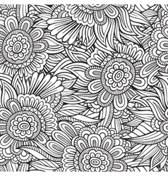 decorative nature seamless pattern vector image vector image