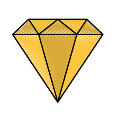 Diamond rich isolated icon vector