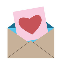 Envelope card with heart vector
