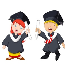 Funny graduation celebration vector