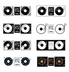 Gramophone and mixette set vector