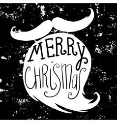 Grunge christmas card with a beard of santa claus vector
