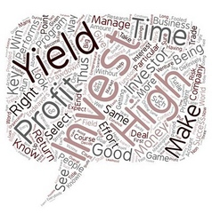 How to select the right high yield investment text vector