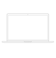 in line style laptop computer vector image