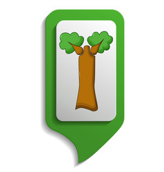 map sign baobab tree icon cartoon style vector image vector image
