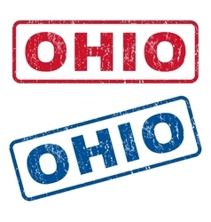Ohio rubber stamps vector