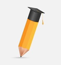 Pencil education cap graduation symbol vector