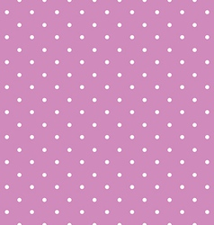 pink background polka fabric with white little vector image vector image