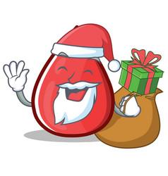 Santa blood drop cartoon mascot character vector