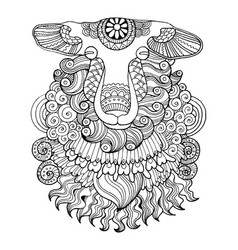 Sheep coloring book vector