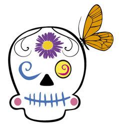 Skull cartoon vector