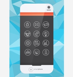 smartphone and icon vector image vector image