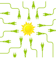 Solar energy flat design concept vector