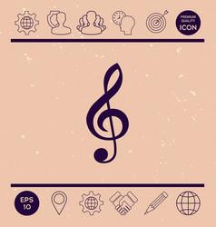 treble clef icon vector image vector image