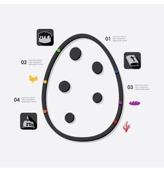 Easter infographic vector