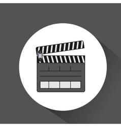 Clapper clapperboard production icon vector