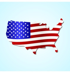 Usa simple map filled with us flag colorful symbol vector