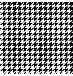 Black white check plaid seamless fabric texture vector