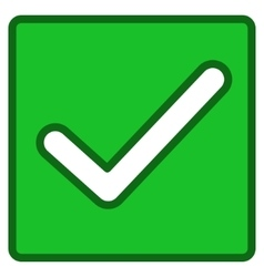 Valid checkbox toolbar icon vector