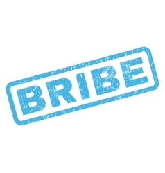 Bribe rubber stamp vector