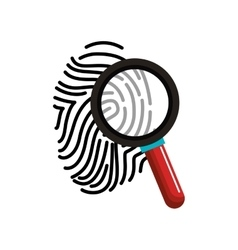 Finger print with magnifying glass vector