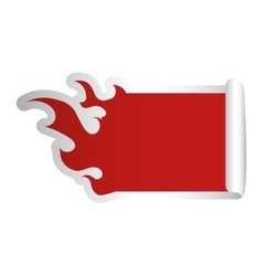 Fire flames shape blank red emblem icon image vector