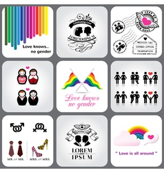Gay and lesbian icon and design element vector