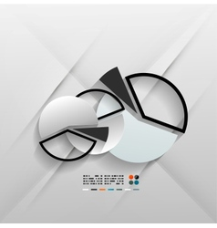 Infographic chart 3d paper design vector