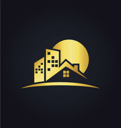 House realty business gold logo vector