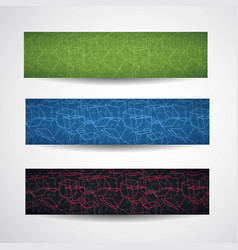 Abstract cubic style banner set vector
