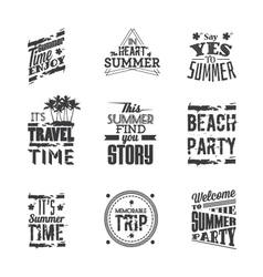 Set of lettering - summer holidays vector