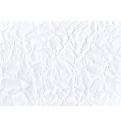 Texture of crumpled horizontal white paper vector image