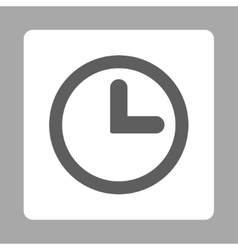 Clock flat dark gray and white colors rounded vector