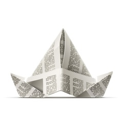 Paper cap as origami vector