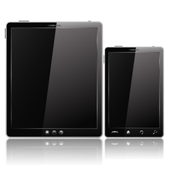 Tablet pc and mobile phone vector