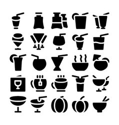 Food icons 8 vector