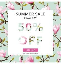 Summer sale banner sale background big sale vector