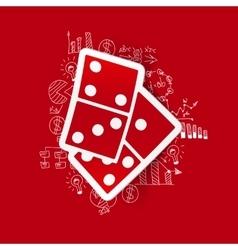 Drawing business formulas domino vector