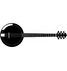 Banjo silhouette vector
