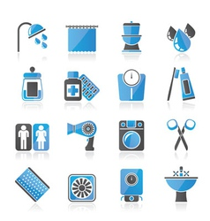 Bathroom and personal care icons vector