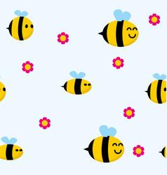 Bee pattern vector
