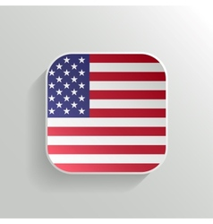 Button - United States of America Flag Icon vector image