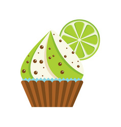 Cake lime chocolate vector