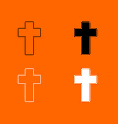 Church cross icon vector