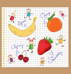 Color pencil diary drawing sketchbook vector