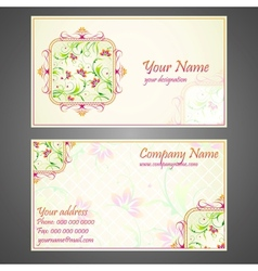 Designer Business Card vector image vector image
