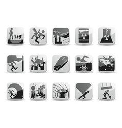 disaster icons vector image vector image